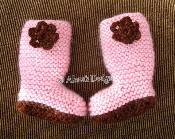 18 Inch Doll Boots Free Knitting Pattern Crochet Flower Pink Etsy