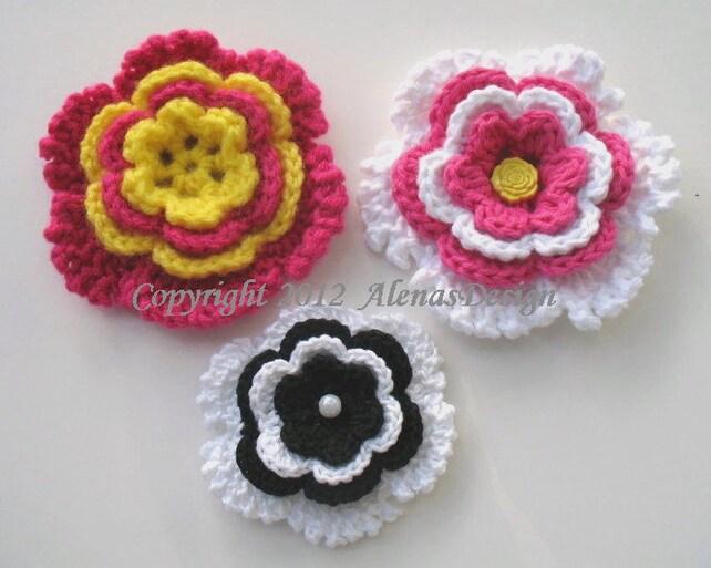 Crochet Pattern 060 Donna Flower Clip Hair Clip Crochet Etsy