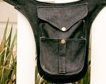Festival Premium Denim Wholester, Hip Pockets, Fanny Pack