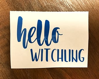ToG Hello Witchling decal Sarah J Maas