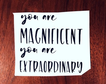 You are magnificent, you are extraordinary Shatter Me Decal