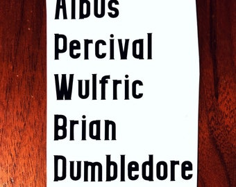 Albus Dumbledore Vinyl Decal Harry Potter