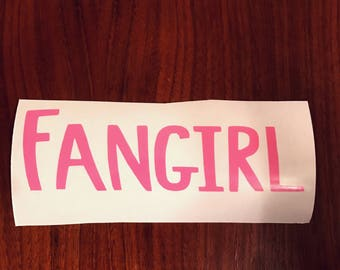 Fangirl Rainbow Rowell vinyl decal