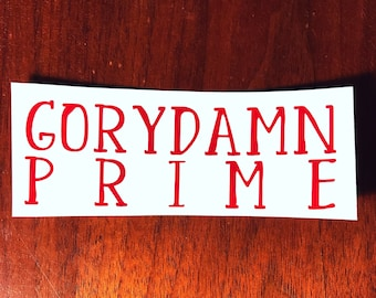 Red Rising Gorydamn Decal 1
