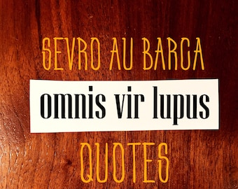 Mature Sevro au Barca Quote Decals Red Rising Pierce Brown