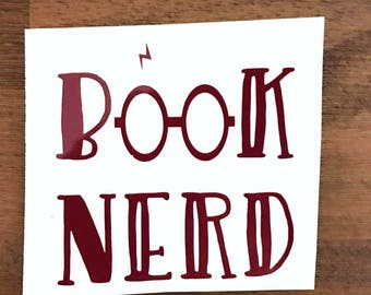 Book Nerd Harry Potter Decal