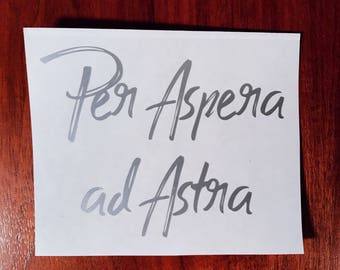Per Aspera ad Astra decal Red Rising Pierce Brown
