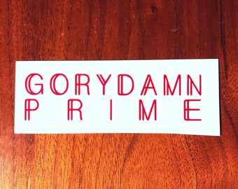 Red Rising Gorydamn Decal 2