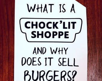 What is a Chock lit Shoppe Riverdale vinyl decal