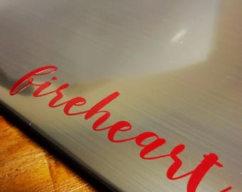 TOG Fireheart vinyl decal
