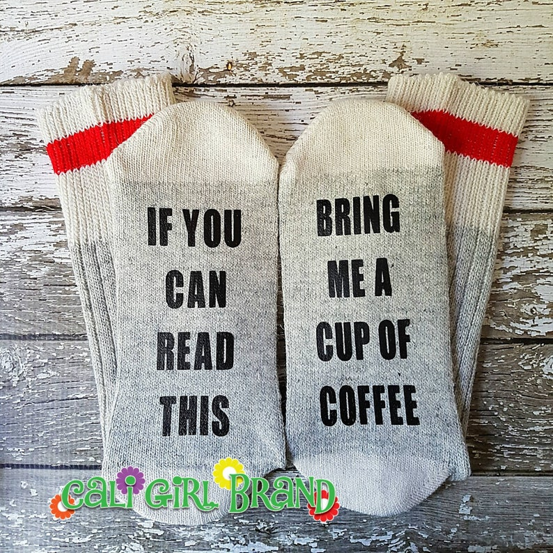 Mom Dad Bestfriend Gifts If You Can Read This Personalized Word Socks Bring Me A Caesar Gift Socks Alcoholic Gifts Christmas Ideas