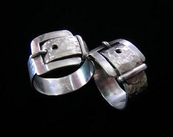 Silver Belt & Buckle Ring