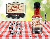 I Do BBQ Custom Barbecue Sauce Wedding Favors - Personalized Labels & Empty 50 mL Bottles - Sticker DIY Kit Engagement Party Couples Shower