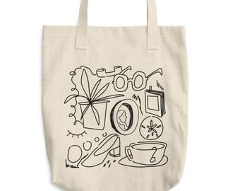 Pen Doodles Inkbleed Cotton Tote Bag