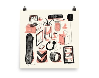 """All Things in Sight Illustration Print by Haley Tippmann 10""""x 10"""" unframed"""