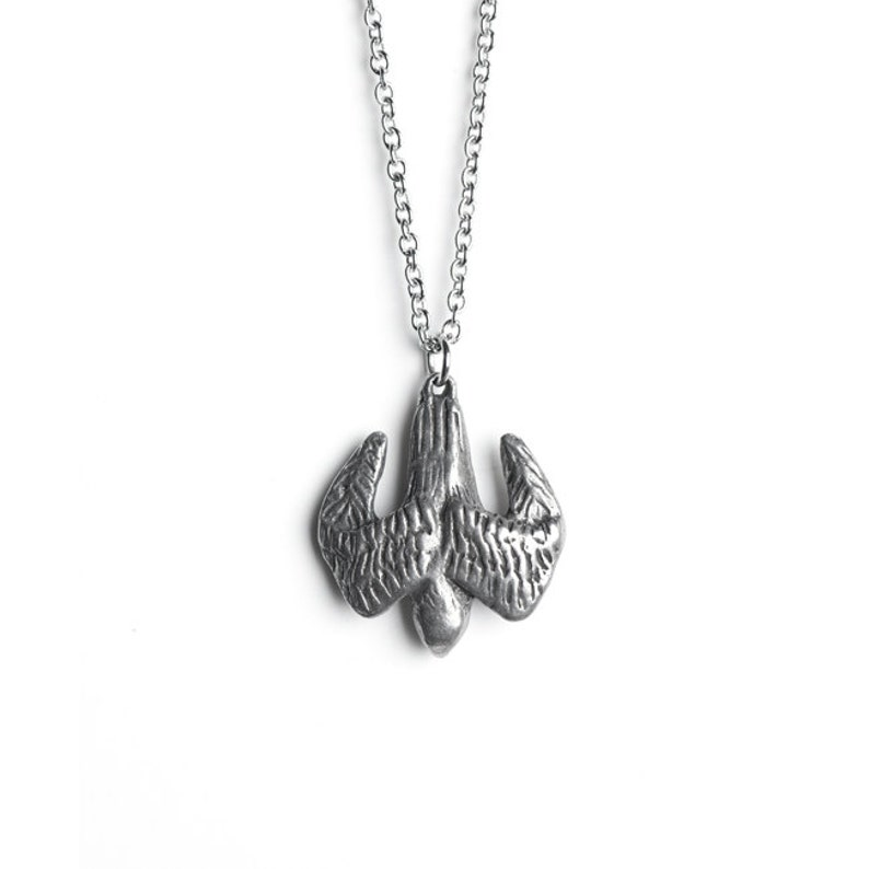 RETIRING Falcon Necklace  March / April Birth Totem Jewelry  image 0