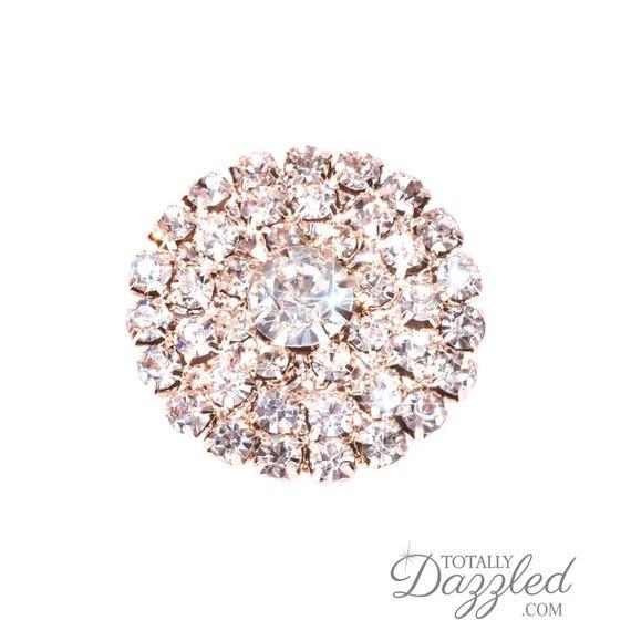 1pc Rhinestone Embellishment Rose Gold Crystal Diamante Wedding Supplies DIY Invitations Cake Decorations Flat Back 544 R