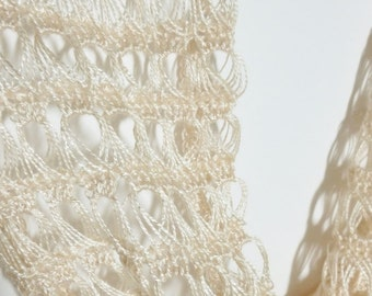 Champagne Crocheted Lace Cowl