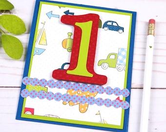 First Birthday Card Boy