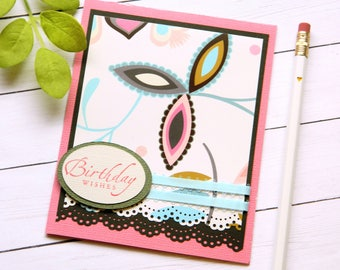 Stampin Up Birthday Card - Floral Birthday Card - Best Friend Birthday - Happy Birthday Card - Cards For Her - Greetings Card Handmade