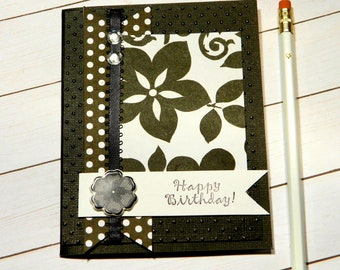 Birthday Money Card - Mom Bday Cards - Bday Card Wife - Daughter Bday - Happy Birthday Her - Floral Card Messages - Stampin Up Cards