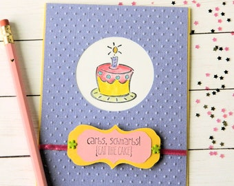 Happy Birthday Card - Birthday Cake - Funny Birthday Card - Girlfriend Bday Card - Diet Card - Snarky Card - Stampin Up Card - Handmade Card