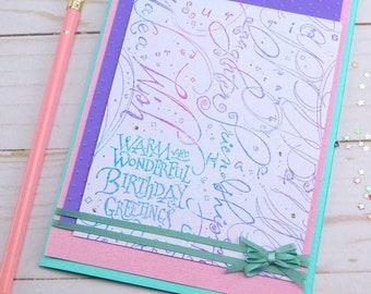 Birthday Card Girlfriend - Pastel Birthday Card - Stampin Up Cards - Handmade Bday Card