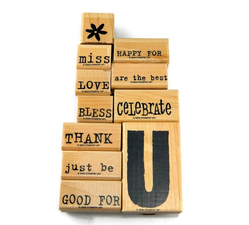 Stampin Up Stamps All About U Rubber Stamp Sets Thank