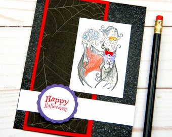 Happy Halloween Card - Funny Halloween Card - Halloween Vampire - Stampin Up Cards - Handcrafted Cards