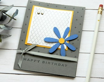 Mom Birthday Card - Girlfriend Bday Card - Bday Card Wife - Happy Birthday Her - Floral Card Messages - Greetings Cards - Stampin Up Cards