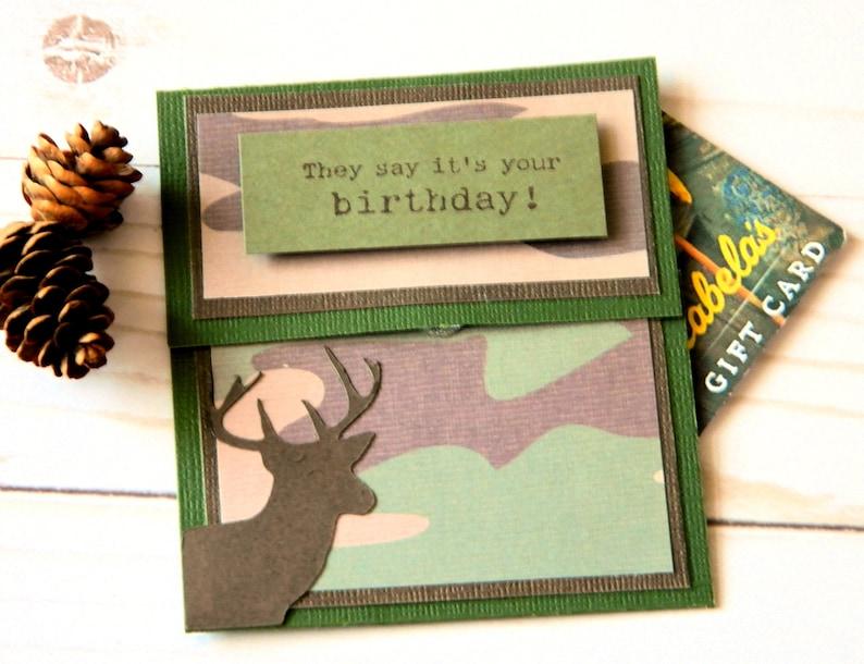 Birthday Money Gifts Bday Gift Card Holders Camo