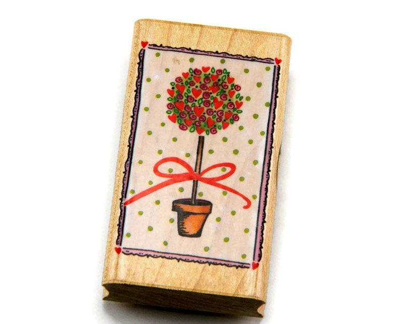 Folk Christmas Tree Inkadinkado Wood Stamp