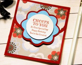 Birthday Gift Card Holder - Birthday Money Gift - Sister Birthday Gift - Daughter Bday Gift - Floral Card For Mom - Mother In Law Gift