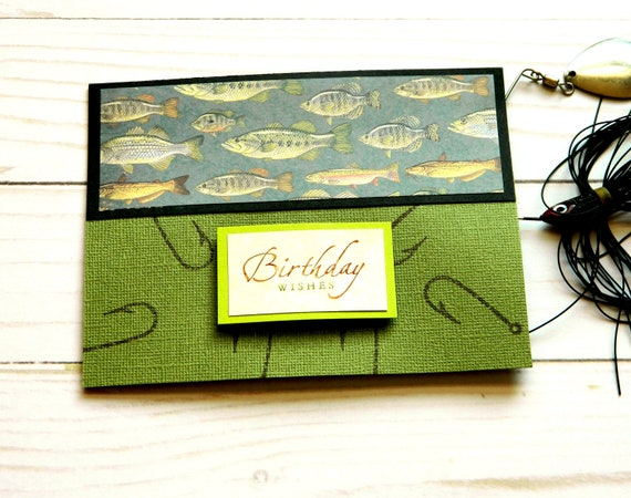 Fishing Birthday Cards Happy Birthday Cards Handmade Etsy