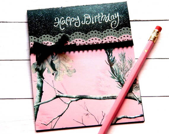 Stampin Up Cards Birthday Handmade Pink Camo Card