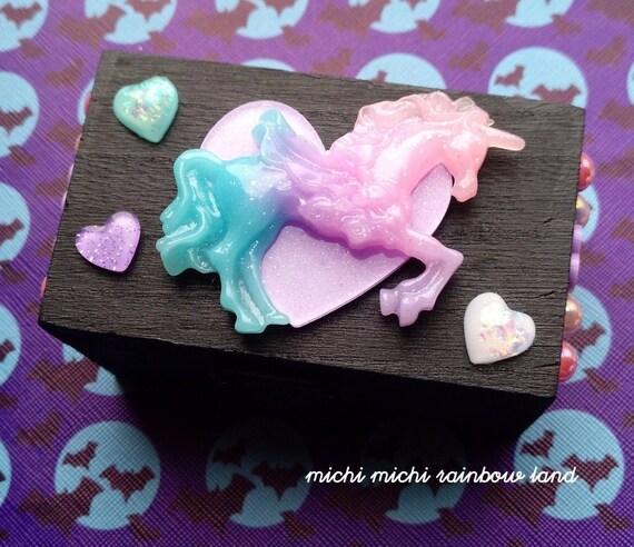 Glitter Unicorn Pastel Goth Mini Box Chest