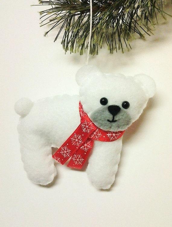image 0 - Polar Bear Christmas Ornament Personalized Gift Etsy