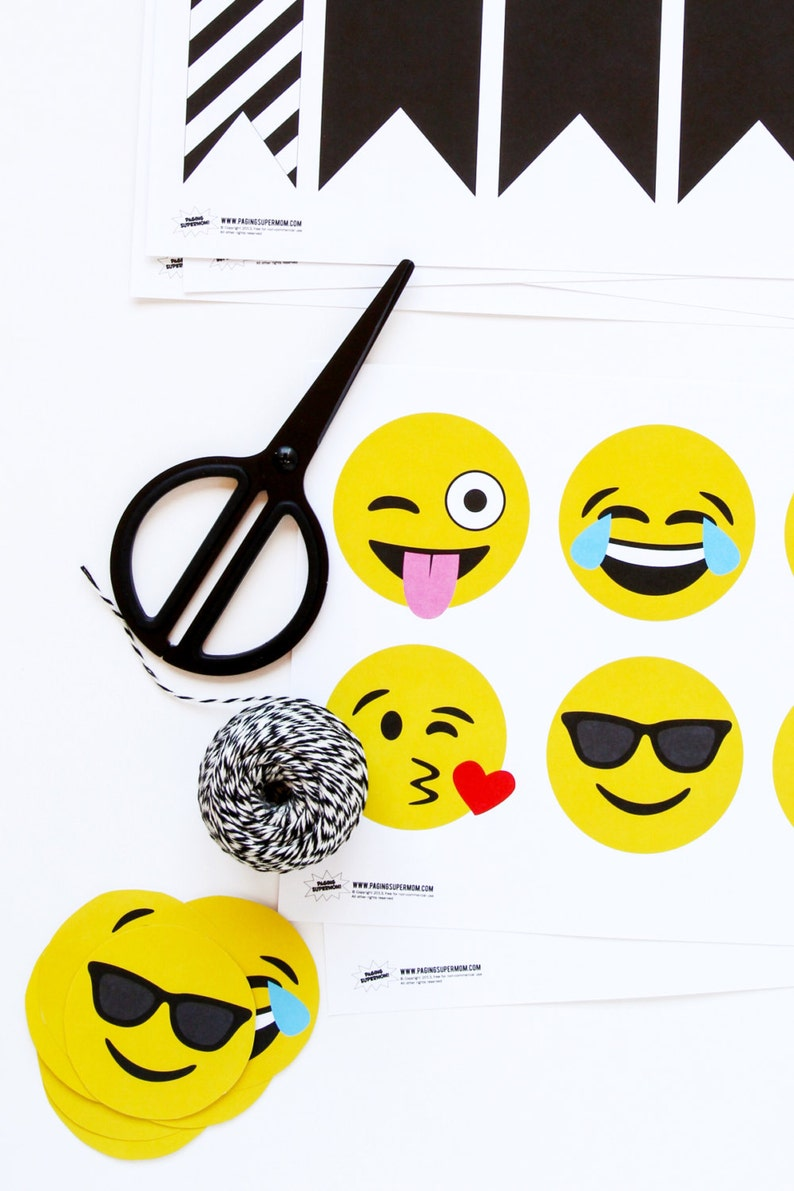 Emoji Party Decor Banner - Printable PDF