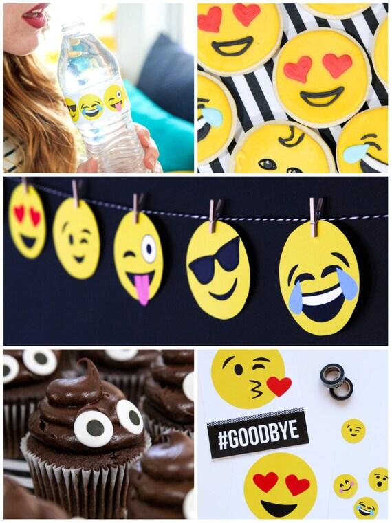 diy emoji tees onesies printable pdf iron on template etsy