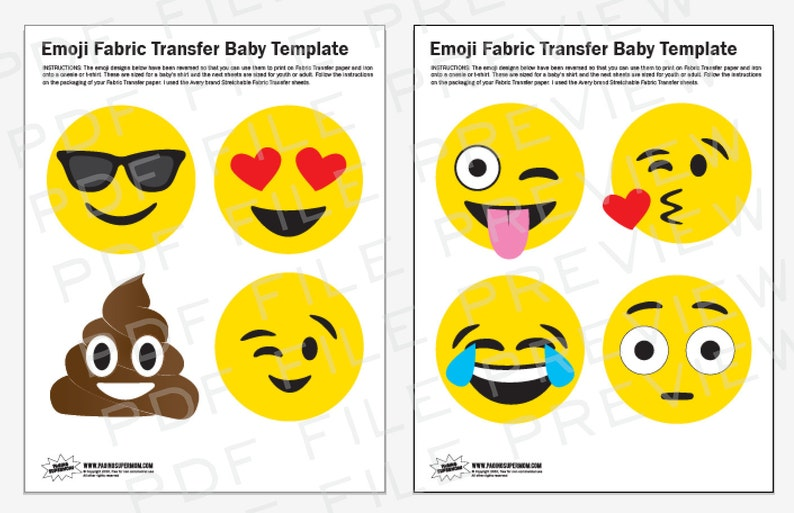 image about Emoji Template Printable referred to as Do-it-yourself Emoji Tees Onesies -- Printable PDF Iron-Upon Template with 8 Beloved Emoticons