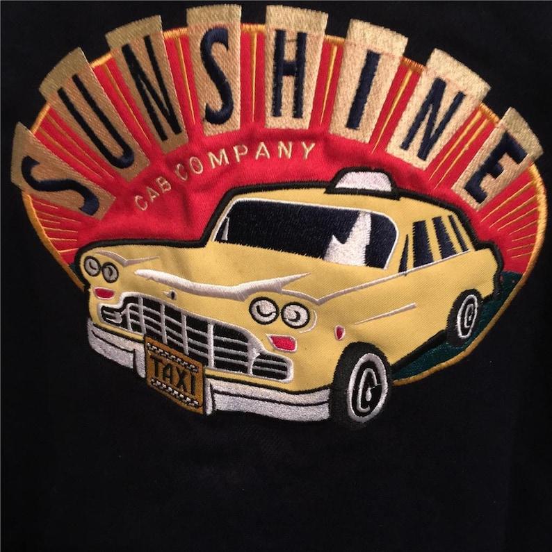 Nick at Nite Classic TV  Sunshine Cab Company  Taxi Vintage 1990/'s Bomber Jacket