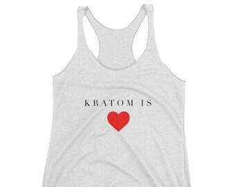 Kratom is Love, Women's Racerback Tank