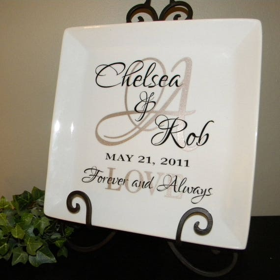 Etsy Wedding Gifts: Personalized Wedding Gift Plate Anniversary Gift For