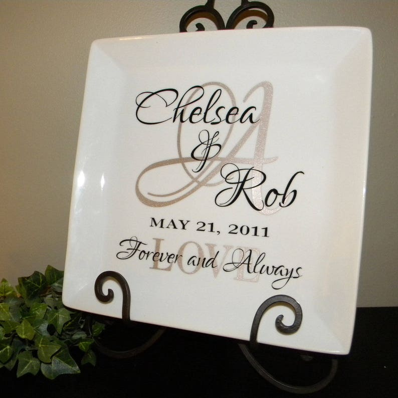 Personalized Wedding Gift Plate Anniversary Gift For Couple Etsy