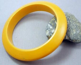 Bakelite Bracelet Bangle Vintage Bakelite Eggyolk Yellow Bakelite Bangle Bracelet SALE