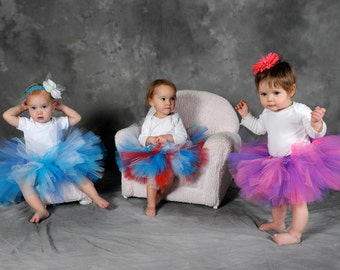 DIY Tutu Kit:  DIY Baby, Toddler, Kid Tutu Sizes- You Choose Color(s) - Make At Home - Easter Basket Gift