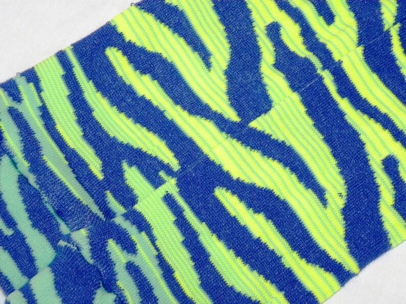 /& SEAFOAM Ombre Zebra Baby Legs Boy Leg Warmers CHATRUESE BLUE