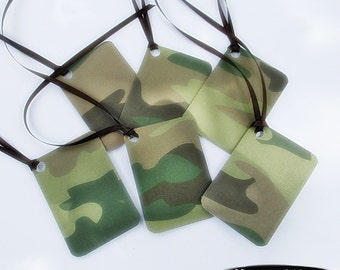 Gift Tags - Camo - Set of 6 - hunter, sportsman, hunter party, green and brown camo gift tag