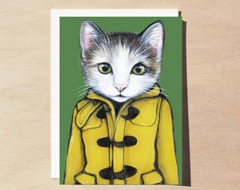 Penelope - Greeting Card - Blank Inside - Cats In Clothes