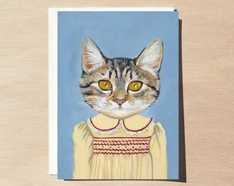 Margaret - Greeting Card - Blank Inside - Cats In Clothes